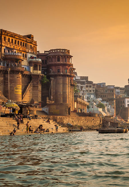Take a boat ride on the Ganges River